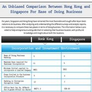 Definitive guide to registration Company Singapore Vs. Hong Kong