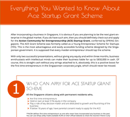 Everything You Wanted to Know About Ace Startup Grant Scheme
